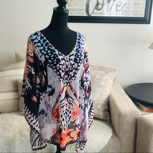 Swim Cover Up - Butterfly Patterns - M